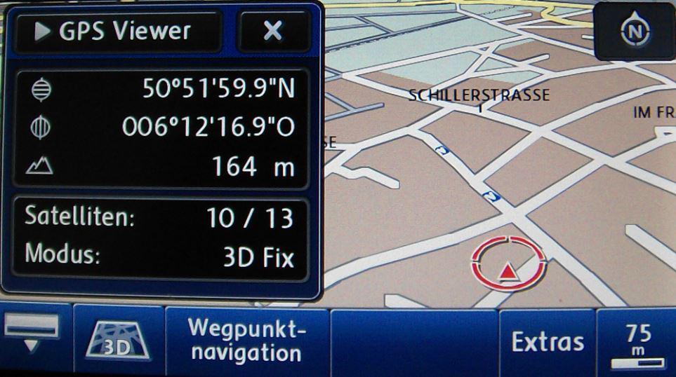 VW Skoda RNS 510 findet kein GPS Signal